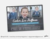 LDS Baptism invitation // Boy Invite // Printable Baptism Invitation // Boy LDS Baptism // Printable // Chalkboard Invite // Baptism Invite