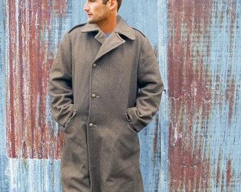 WWII Era U.S. Army Wool Trench Coat - Overcoat  - Mens Large