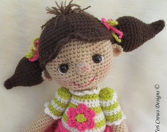 Summer Sale Crochet Pattern So Cute Dolly by Teri Crews instant download PDF format Crochet Toy Pattern