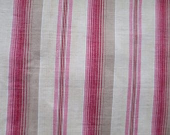 Piece of Vintage French Ticking–Unusual Color Palette