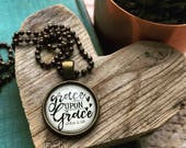MINI grace upon grace (John 1:16) necklace