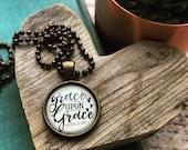 MINI grace upon grace (John 1:16) necklace