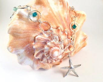 Sparkly Starfish Necklace Set