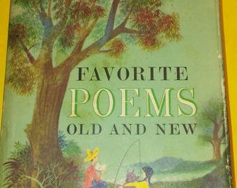 1957 Favorite Poems Old and New Vintage Hardback 608 pages Poetry Selected for Boys and Girls by Helen Ferris 700 poems
