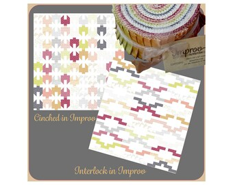 Improv Fabric Jelly Roll Plus 2 Jelly Roll Patterns
