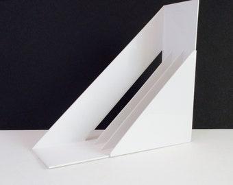 Heller Italian  Record Holder Rack Modern  Mid century Modern Pop Art plastic Panton Vinyl Organizer  Italy Giotto Stoppino