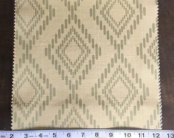 Custom Curtains Valance Roman Shade Shower Curtains in Avocado Diamond Pattern Fabric