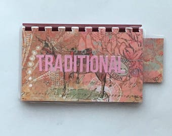 Handmade Burgundy Pink 'Traditional' Blank Recipe book for Your Personal Recipes