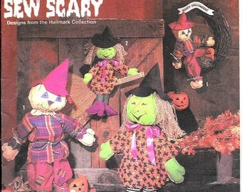 Scary Scarecrow & Witch Doll Patterns S7418