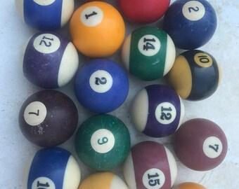 Group of Vintage Pool Balls