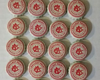 24 Ballast Point beer bottle caps, nautical design