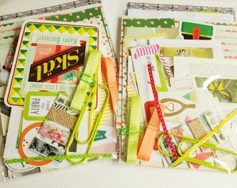 A Shot of Lime -  CRAFTY BITS - crafting kit with papers and embellishments