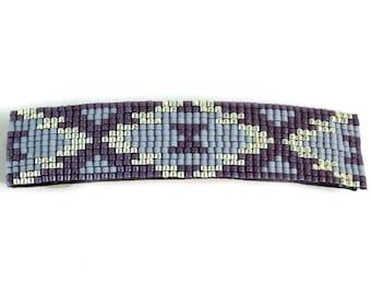 Barrette for Women - Purple - Barrette - Beaded Bair Clip