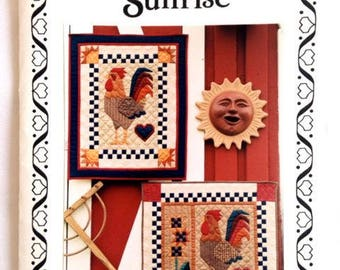 Vintage – Pattern for Chanticleer Sunrse Rooster – Quilting and Applque Wall Hanging