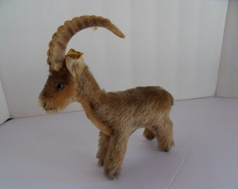 Steiff goat Capricorn goat miniature mohair button made in Germany 2485