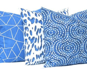 Pillow Covers - Decorative Pillow Covers - Sofa Pillow Covers - Three- Royal Blue Pillow - Home Decor - Throw Pillow Cover - Designer Pillow