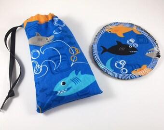 Menstrual Cup Bag Sharks
