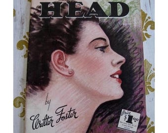 Vintage How To Draw Book The HEAD Fifties Sixties Art Instruction Walter Foster
