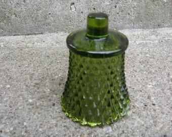 homco diamondlite green glass votive candle holder  home interiors diamond pattern