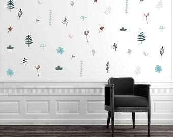 Leaf Wall Decal Etsy - Wall decals leaves