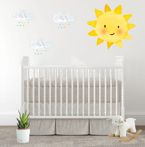 Baby Room Decal Nursery Wall Decals Sunshine Sun Rainbow - Baby room decals