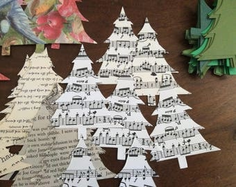 30 Christmas Trees 4 Inch Die Cuts In Any Patterned Paper