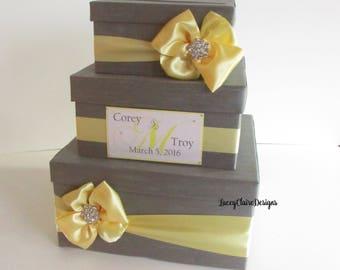 Wedding Card Box, Secure Card Box, Money Holder, Reception Envelope Box - Custom Mde