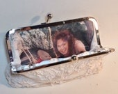 Personalize Your Bridal Clutch or Bridesmaid Clutch with a Photo Lining Bridal Clutch CUSTOMIZE