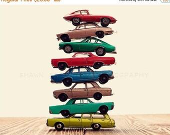 FLASH SALE til MIDNIGHT Vintage Stacked Matchbox, One Photo  Print, Boys Room decor, Boys Nursery Prints