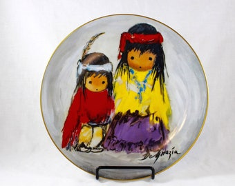 DeGrazia Plate Wondering American Indian Limited Edition Decorative Cabinet Plate Native American