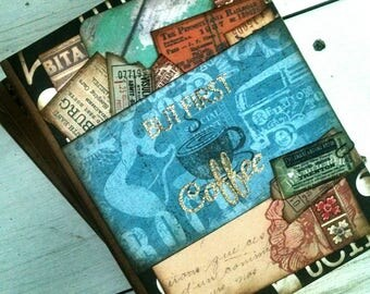 But First Coffee Journal Notebook Smashbook Art Journal Unlined Pages