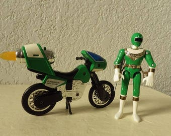 Power Rangers Green Ranger Zeo Jet Cycle IV  Vehicle and Green Ranger Figure, 1996.