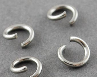500 pcs 304 Stainless Steel Open Jump Rings 6mm - 20 Gauge ( 0.8mm Thick) - High Quality