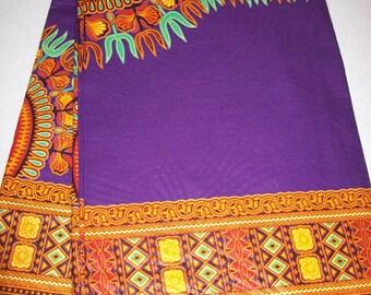 Purple color dashiki print fabric wholesale 6 yards/ Dashiki clothing/ Shop Dashiki/ Java print/ Shop Dashiki Tops