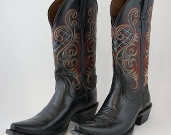 Ariat Women's Bright Lights Snip Toe Leather Cowboy Boots -  Size 6.5B