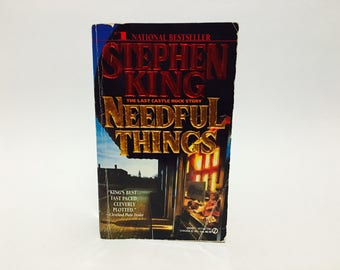 Vintage Horror Book Needful Things by Stephen King 1992 First Edition Paperback