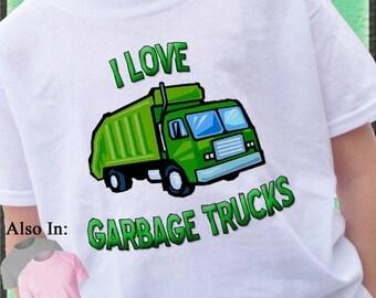 FLASH SALE I love Garbage Trucks Shirt Green garbage truck t-shirt trash trucks rrr garbage man - Garbage truck shirt - Garbage Truck Tshirt