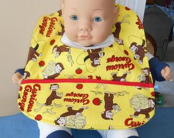Curious George Baby Bib