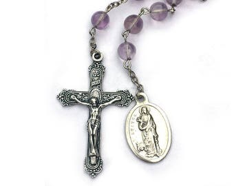 St. Agatha Amethyst Catholic Rosary Chaplet