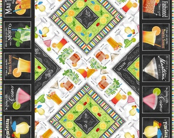Cheers Runner Quilt Kit, 4978-0, Drink table runner kit, party table runner kit