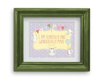 I am Wonderfully Made Bunny Print {Digital}