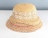 1960s Women's Straw Hat