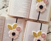 Flower Bookmark - Band Bookmark - Planner Band -  Book Lover Gift - Book Club Gift - Planner Bookmark - Book Band - Elastic Bookmark
