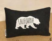 California Bear Pillow GREY