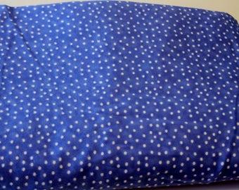 Blue Polka Dot Flannel Yardage