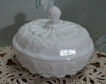 Westmoreland Milk Glass Covered Candy Dish
