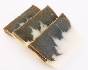Spearmint Soap - Fragrance Free Unscented Vegan Soap - Natural Handmade Cold Process Coconut Oil Olive Palm - Valentines Day