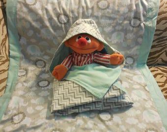 Swaddler/Minky blanket set