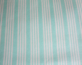 Bonnie Camille The Good Life Fabric -Bonnie Camille Floral Stripe Aqua 55157 12 - New In Stock 3 Day Special