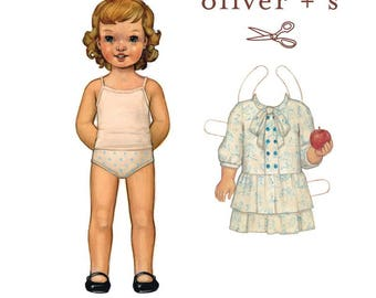 Oliver + S APPLE PICKING DRESS Sewing Pattern, Sizes 6 mos - 4 - Girls Dress Sewing Pattern - Dress Pattern